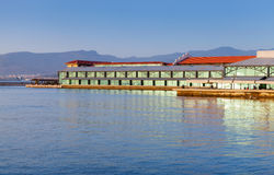 Modern Konak pier buildings. Izmir city, Turkey Royalty Free Stock Photo