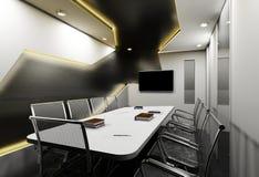 modern konferenskorridor Arkivbild