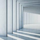 Modern konkret korridor Royaltyfri Foto