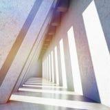 Modern konkret korridor Royaltyfri Bild