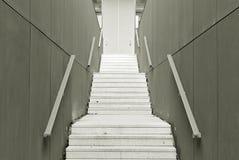 Modern konkret trappa svart white Royaltyfri Fotografi