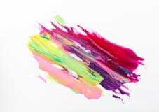 Modern konst färgrik ljus målning gör för att spika upp polerade produkter royaltyfri foto