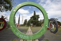 Modern konst parkerar offentligt, Cordoba - Argentina royaltyfri bild