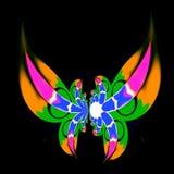 Modern konstgarnering Konstnären gjorde idéer Skraj magisk fantasi Utsmyckade utsmyckade vingar Freaky virvelmodell Full ramtapet Royaltyfri Bild