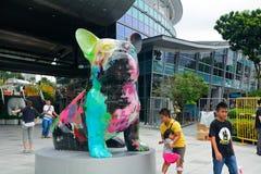 Modern konstutställning, Singapore Royaltyfria Foton