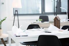 modern kontorsarbetsplats Fotografering för Bildbyråer