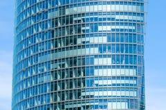 Modern kontorsbyggnadfasad, skyskrapayttersida Royaltyfria Foton