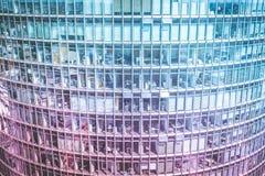 Modern kontorsbyggnadfasad, skyskrapayttersida Royaltyfria Bilder
