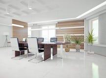 Modern kontorsinre stock illustrationer