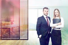 Modern kontorsinre, affärspartners Royaltyfri Foto