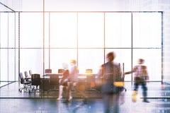 Modern kontorslobby och mötesrum tonad suddighet Royaltyfri Fotografi