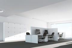 Modern kontorsmiljö, bokhylla Royaltyfri Fotografi