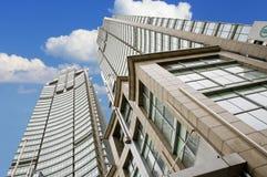 modern kontorssky för blå byggnad Royaltyfri Fotografi