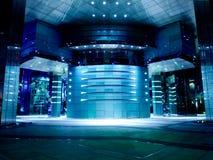 modern kontorston för blå korridor Fotografering för Bildbyråer