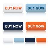 Modern koop nu en leeg pictogrammalplaatje Stock Foto
