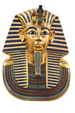 Modern kopia av Tutankhamuns begravnings- maskering Arkivbilder
