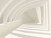 Modern korridor stock illustrationer