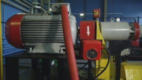 Modern kraftig kompressor på gasledningcloseupen lager videofilmer