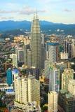 Modern Kuala Lumpur architecture, Malaysia. Aerial view of Kuala Lumpur downtown. Malaysia Royalty Free Stock Images