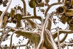 Modern kunstbeeldhouwwerk royalty-vrije stock afbeeldingen