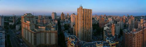 Modern Kyiv panorama Royalty Free Stock Image