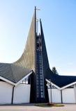 Modern kyrka, stad Breclav, Tjeckien, Europa Royaltyfri Fotografi