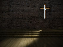 modern kyrklig inre 3d royaltyfri illustrationer