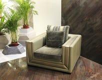 Modern lädersofa Royaltyfri Bild
