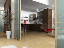 modern lägenhet Fotografering för Bildbyråer