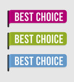 Modern  label � best choice Royalty Free Stock Photos