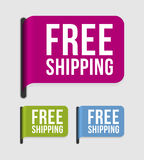 Modern  label � free shipping Royalty Free Stock Images