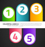 Modern labels Stock Image