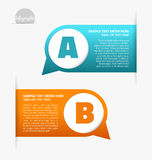 Modern labels Stock Images