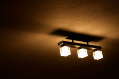 Modern lamp. In small flat royalty free stock image