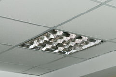 Modern lamp on the ceiling of the office Royalty Free Stock Photo