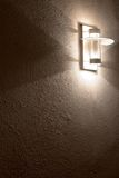 Modern lamp on concrete wall Royalty Free Stock Photography