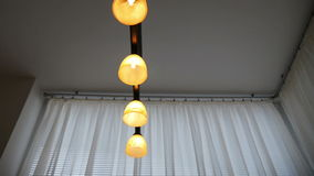 Modern Lamp in Dining Room stock video footage