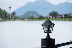 Modern lamp light fixtures in nature, summer landscape. Modern lamp light fixtures in nature, summer landscape Stock Image