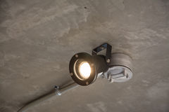 Modern lamp with metal pipe Stock Photo