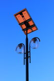 Modern Lamp Post. Close up on a solar powered lamp post Royalty Free Stock Images