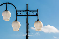 Modern Lamp post in the sky. Stock Photos