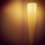 Modern lamp in room corner Stock Photography