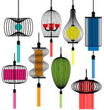 Modern lamp  set Royalty Free Stock Images