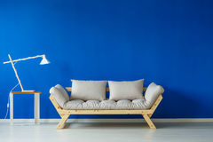 Modern lamp and sofa royalty free stock image