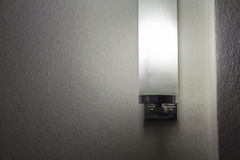 Modern lamp on a wall Royalty Free Stock Photo