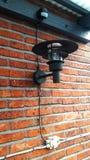 Modern lampa på väggen Royaltyfria Foton