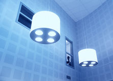 Modern lamps in blue Stock Image
