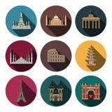 Modern landmark icons Stock Images
