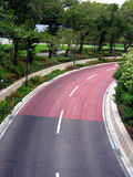 Modern landscaped highway royalty free stock photography
