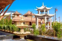 Modern landschap van Safari Park in Doubai in al-Warka Royalty-vrije Stock Afbeeldingen
